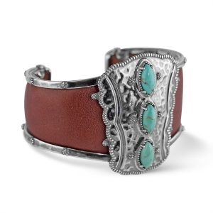 1_43376_ZM_Jennifer-Nettles-Sterling-Silver-Turquoise-Bold-Leather-Cuff