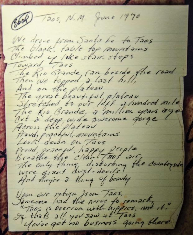 JohnnyCashwriting